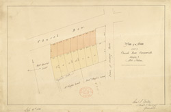 Plan of an estate at Greenwich, 1833